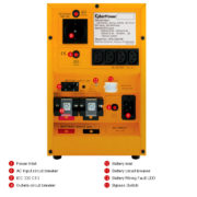 Инвертор CPS 1000 E - Резервный источник питания 220в (ИБП 1000 ВА/ 700 Вт) - Фото 3