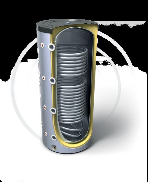 Буферные емкости для систем отопления с двумя теплообмениками (эл. Тэн опционально). Продукция компании TESY - купить в Москве по цене производителя