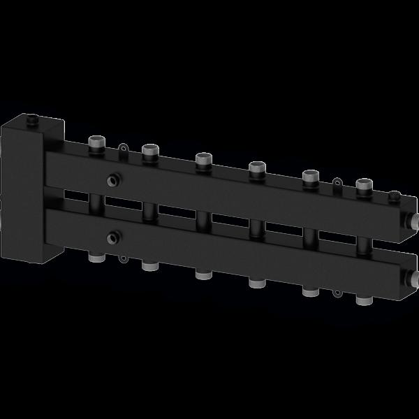 Гидравлический разделитель с коллектором на семь контуров Север-М7 (до 70 кВт) горизонтальный - купить в Москве по цене производителя