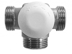 Трехходовый термостатический клапан CALIS-TS-3D (15 - справа от радиатора) - купить в Москве по цене производителя