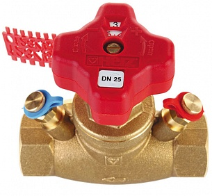 Клапан балансировочный ГЕРЦ ШТРЕМАКС-GM, для регулирования и измерения расхода, шпиндель прямой (15 MF - 3,49 Kvs, м3/ч) - купить в Москве по цене производителя