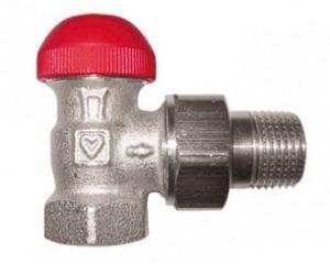 Термостатический клапан ГЕРЦ-TS-90-V угловой (3/4 - 0,03–0,55 Kv2, м3/ч) - купить в Москве по цене производителя