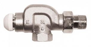 Термостатический клапан ГЕРЦ-TS-E угловой специальный (1/2 - 1,5 Kv2, м3/ч) - купить в Москве по цене производителя