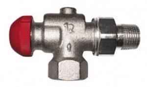 Термостатический клапан ГЕРЦ-TS-90-V угловой специальный (3/8 - 0,03–0,55 Kv2, м3/ч) - купить в Москве по цене производителя