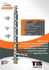 Комплект утепленного дымохода PRO PLUS D220/320 мм (5 метров) AISI 304-0,8мм / 430-0,5мм подвесной - купить в Москве по цене производителя