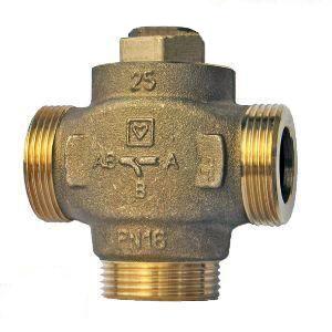 Трехходовой термосмесительный клапан ГЕРЦ TEPLOMIX (25) открытый - купить в Москве по цене производителя